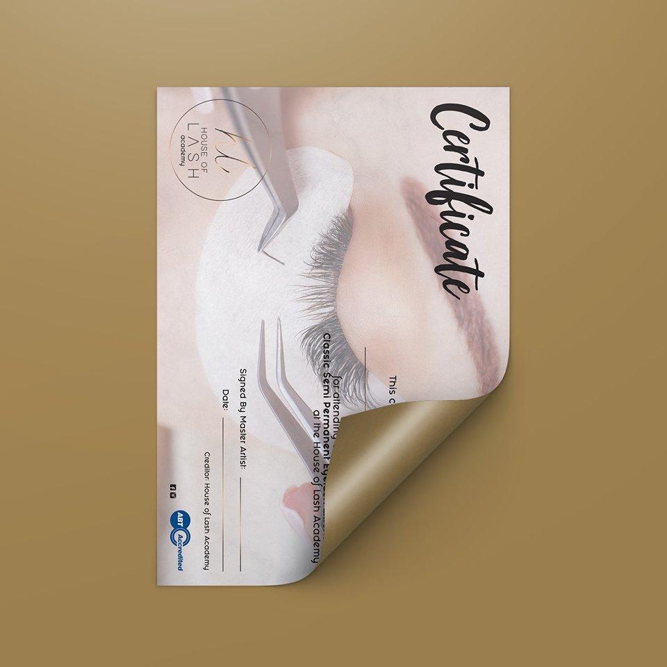 Certificate Design Sheffield - AW Media & Marketing