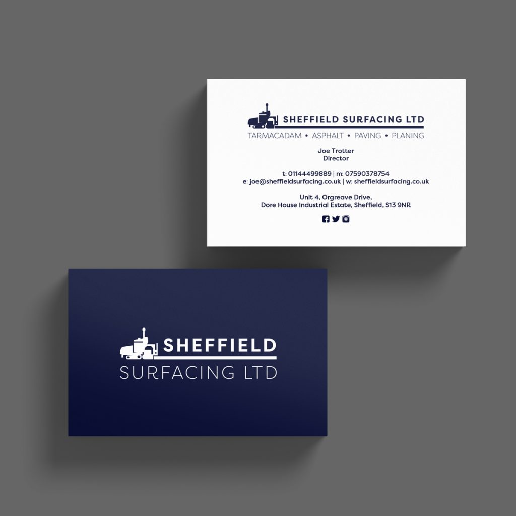 Business Card Design Sheffield - AW Media & Marketing