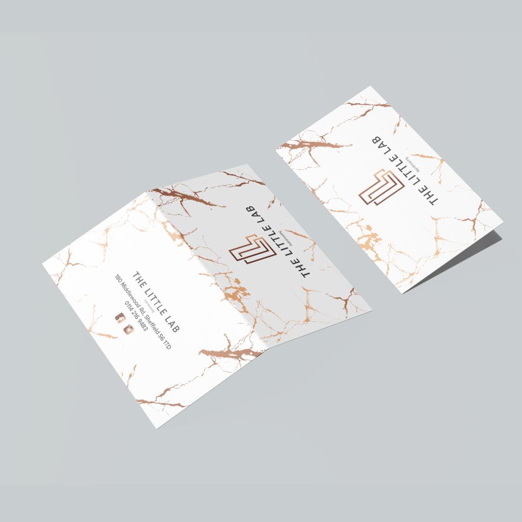 Folded Business Card Design Sheffield - AW Media & Marketing